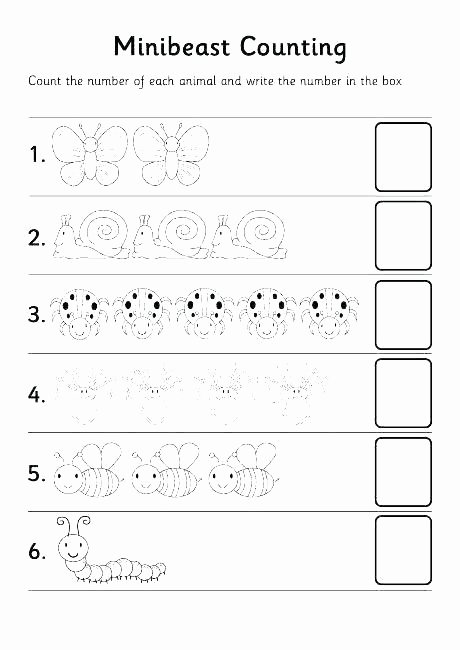 Counting Cut and Paste Worksheets Winter Counting Worksheets