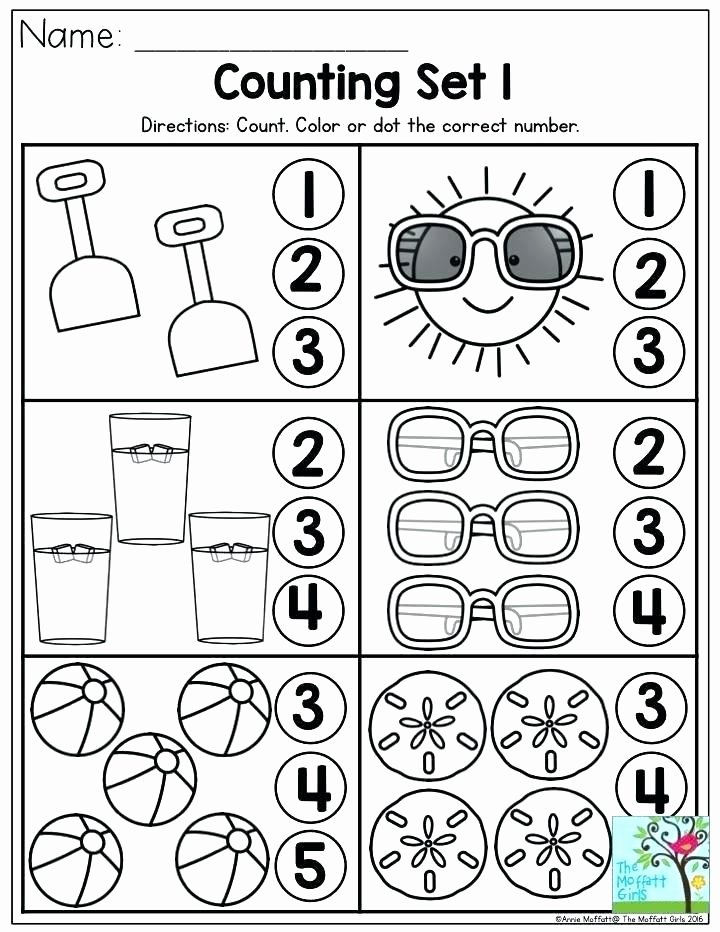 Counting Worksheets Preschool Count and Encircle the Correct Number Review Worksheets