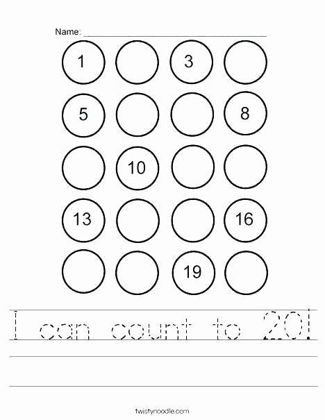 Counting Worksheets Preschool Counting Number Worksheets Preschool Backwards 1 and