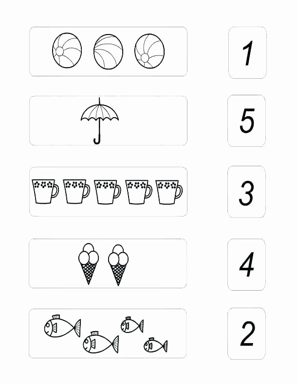 Counting Worksheets Preschool Counting Numbers Worksheets