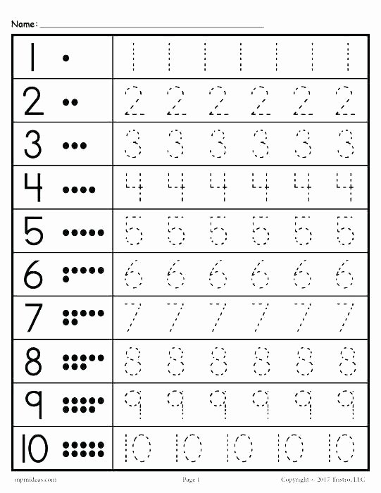 Counting Worksheets Preschool Number 9 Worksheets for Preschool Similar for Number