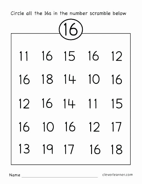 Counting Worksheets Preschool Number Words Worksheets for Kindergarten
