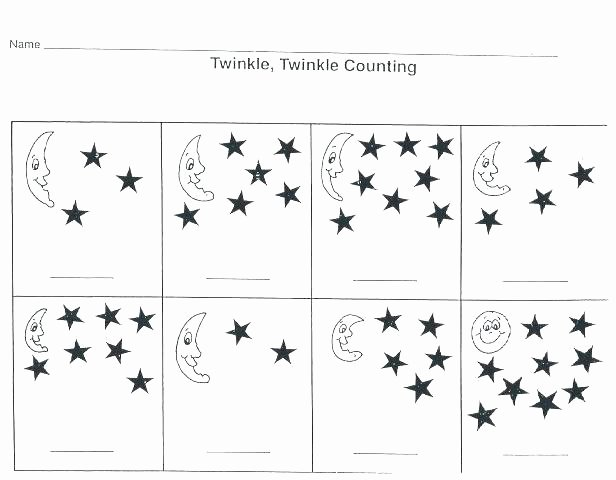 Counting Worksheets Preschool Space Worksheet for Kids Crafts and Worksheets Preschool