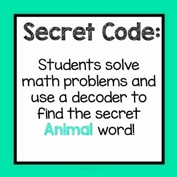 Crack the Code Math Worksheet Math Code Worksheets