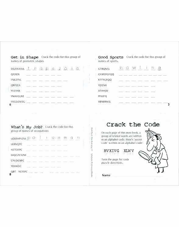 Crack the Code Worksheets Crack the Code Worksheets Printable Free Crack the Code