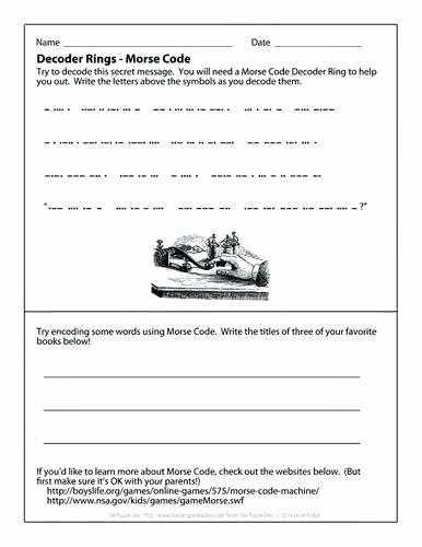 Crack the Code Worksheets Printable Beautiful Free Printable Code Worksheet and Decoder Ring Here to