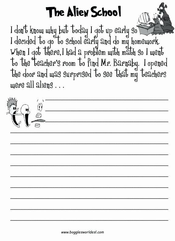 Creative Writing Worksheets Pdf Story Writing Worksheets for Grade 2