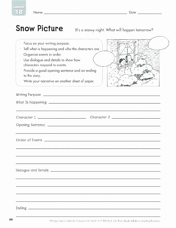 Creative Writing Worksheets Pdf Third Grade Writing Worksheets Opinion and Worksheet 5th