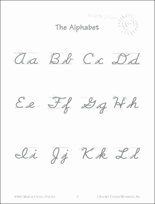 Cursive Alphabet Worksheets Pdf Cursive Alphabet Traceable Worksheets Writing Practice Book