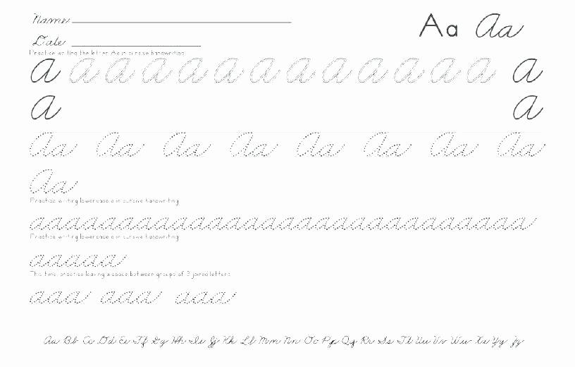 Cursive Alphabet Worksheets Pdf Free Cursive Alphabet Worksheets Free Printable Tracing