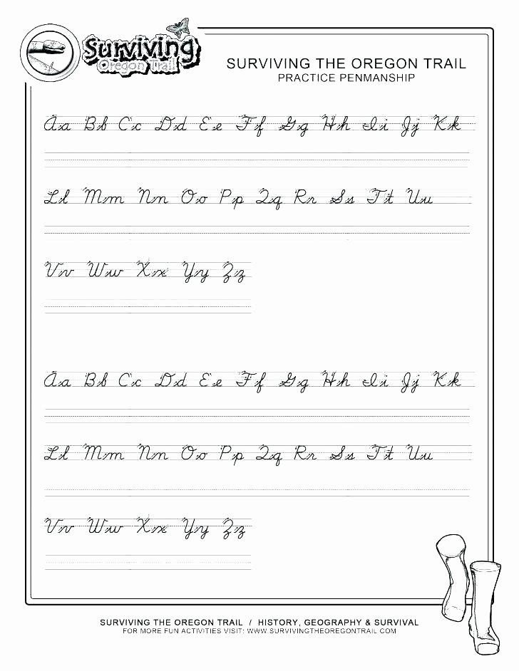 Cursive Paragraph Worksheets Create Cursive Handwriting Practice 6 Free Printable Writing