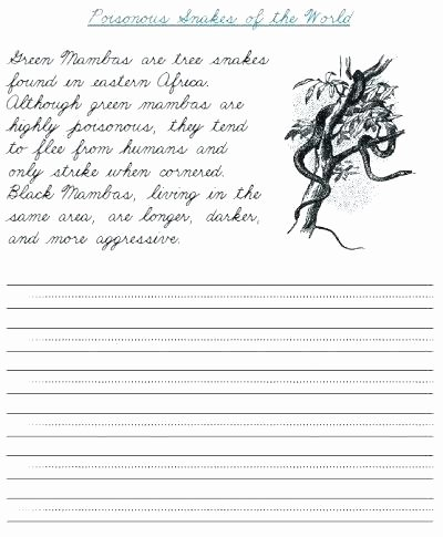 Cursive Paragraph Worksheets Free Printable Handwriting Worksheets Ets for Grade Cursive