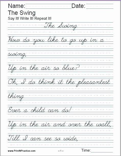 Cursive Practice Sheets Pdf 3rd Grade Cursive Worksheets