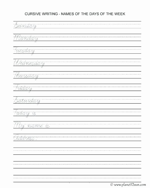 Cursive Practice Sheets Pdf Handwriting Improvement Worksheets for Adults Pdf