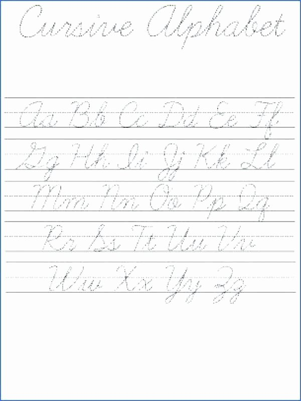 Cursive Practice Sheets Pdf whole Alphabet Worksheets – Openlayers