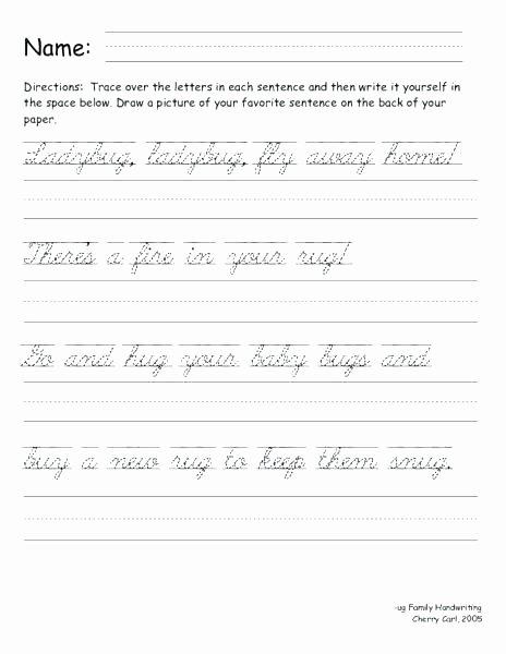 Cursive Sentences Worksheets Printable Cursive Writting Worksheets