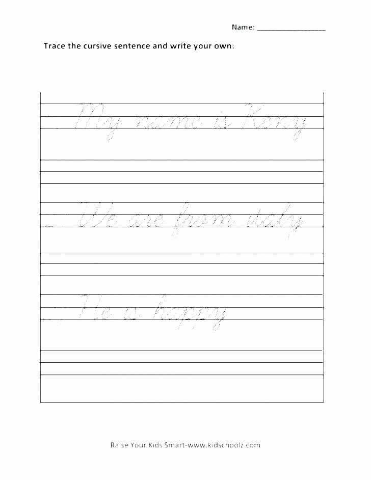 Cursive Sentences Worksheets Printable Free Cursive Handwriting Worksheets Cursive Writting