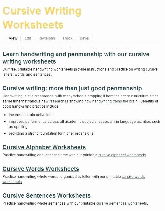 Cursive Writing Sentences Worksheets Cursive Writting Worksheets