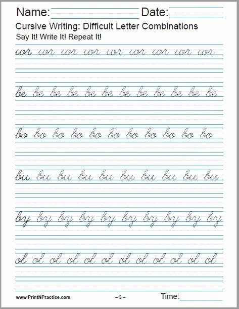 Cursive Writing Sentences Worksheets Pinterest