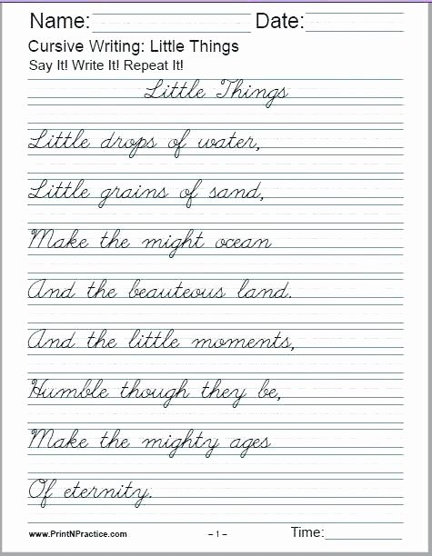 Cursive Writing Sheets Pdf Cursive Writing Worksheets A Alphabet Sentences Advanced the