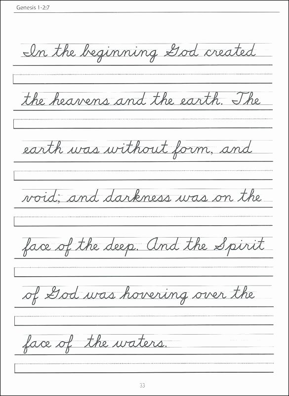 Cursive Writing Sheets Pdf Free Writing Worksheets for 5th Grade