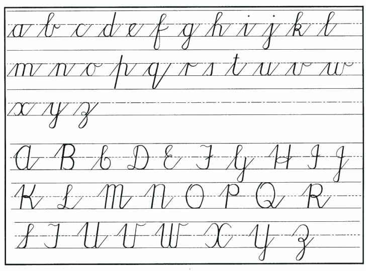 Cursive Writing Sheets Pdf Penmanship Sheet Worksheets for 1st Grade Cursive