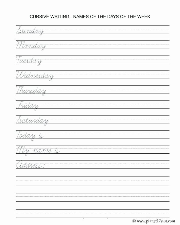 Cursive Writing Sheets Pdf Worksheet Handwriting Practice Paper Cursive Writing