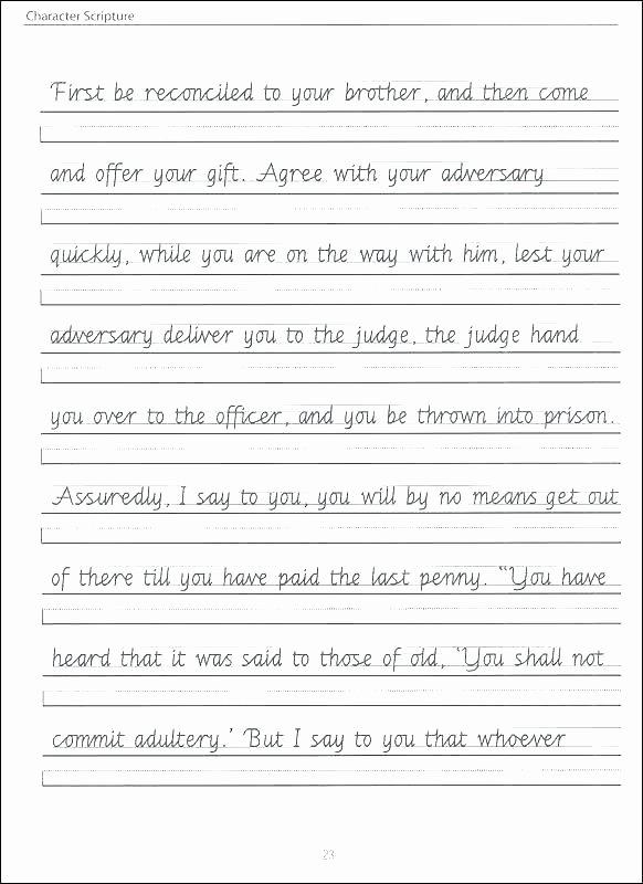 Cursive Writing Worksheets Sentences Cursive Handwriting Worksheets to Make Beautiful Cursive