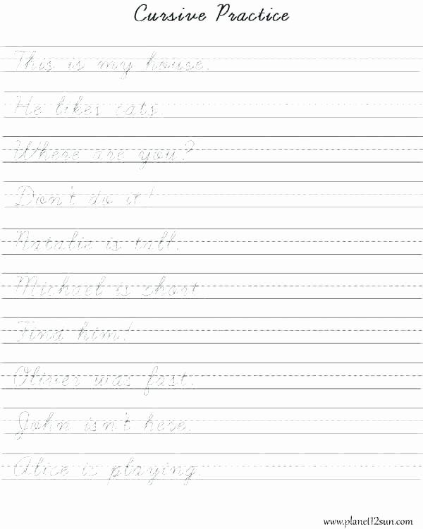 Cursive Writing Worksheets Sentences Free Printable Sentence Writing Worksheets Ting Kindergarten
