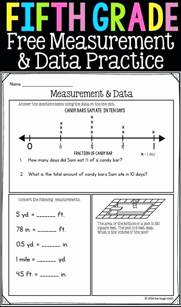 Customary Capacity Worksheets 5th Grade Measurement Worksheets Printable