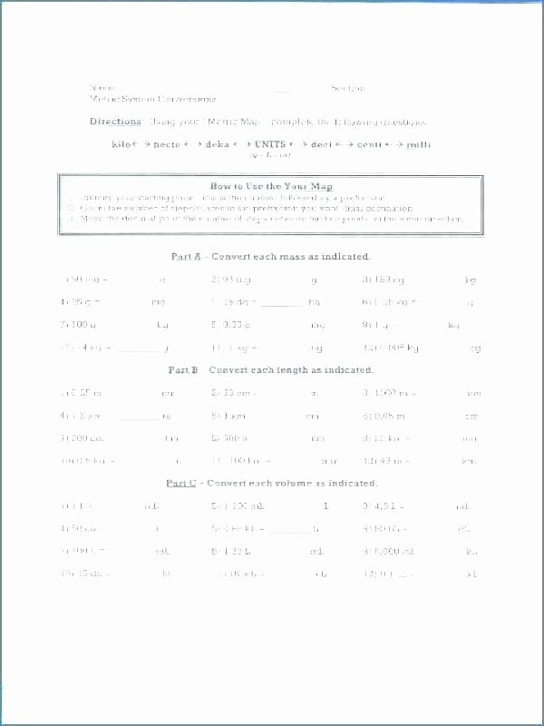 Customary Capacity Worksheets Science Measurement Worksheets – Trungcollection