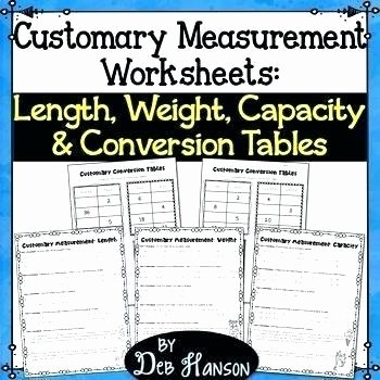 Customary Measurement Conversion Worksheet 5th Grade Measurement Worksheets Printable Measurement