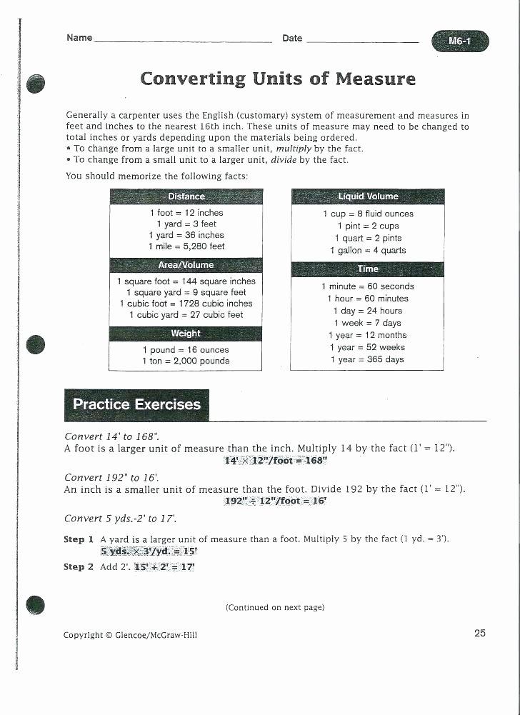 Customary Measurement Conversion Worksheet Eighth Grade Measurement Converting Customary and Metric