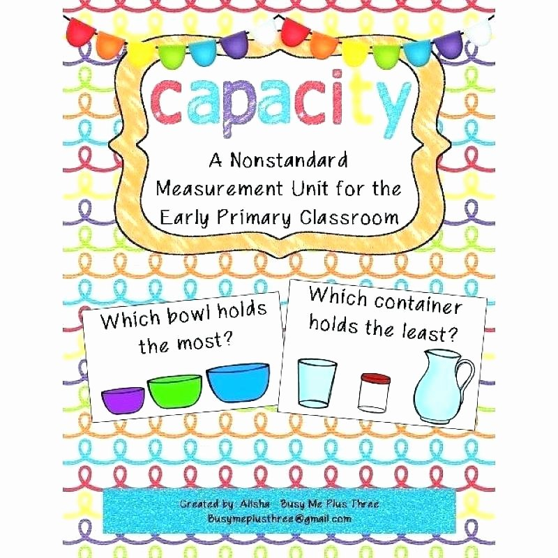 Customary Units Of Capacity Worksheet Measuring Capacity Worksheets