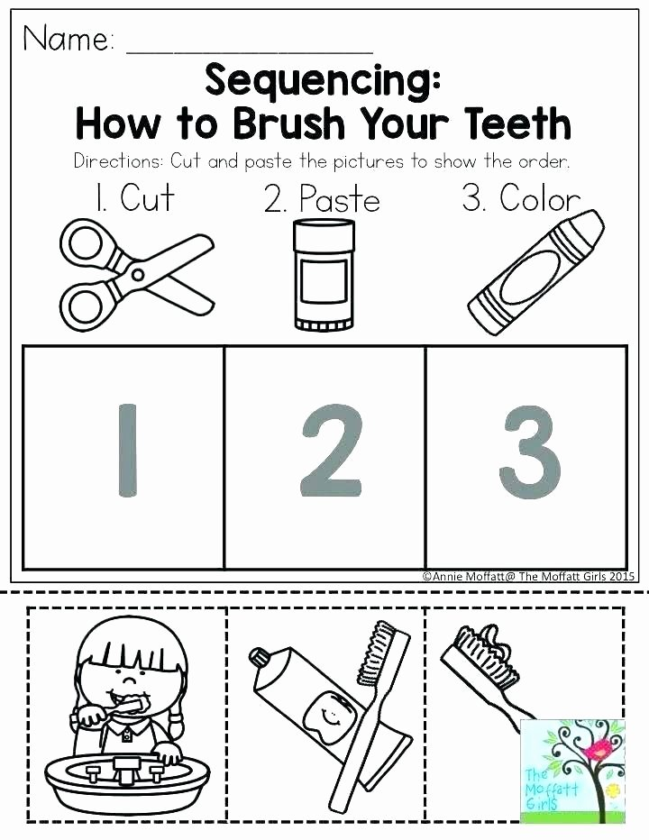 Cut and Paste Sequencing Worksheets Awesome Number Sequence Worksheets Math Kindergarten