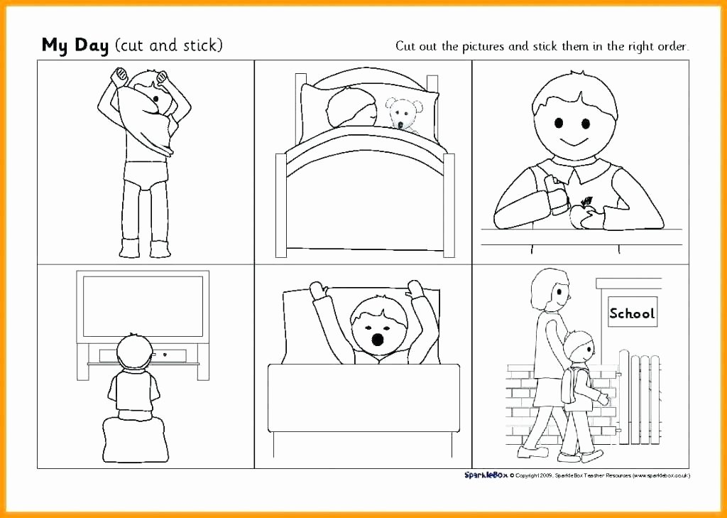 Cut and Paste Sequencing Worksheets Cut and Paste Story Sequencing Worksheets Sequence for Free