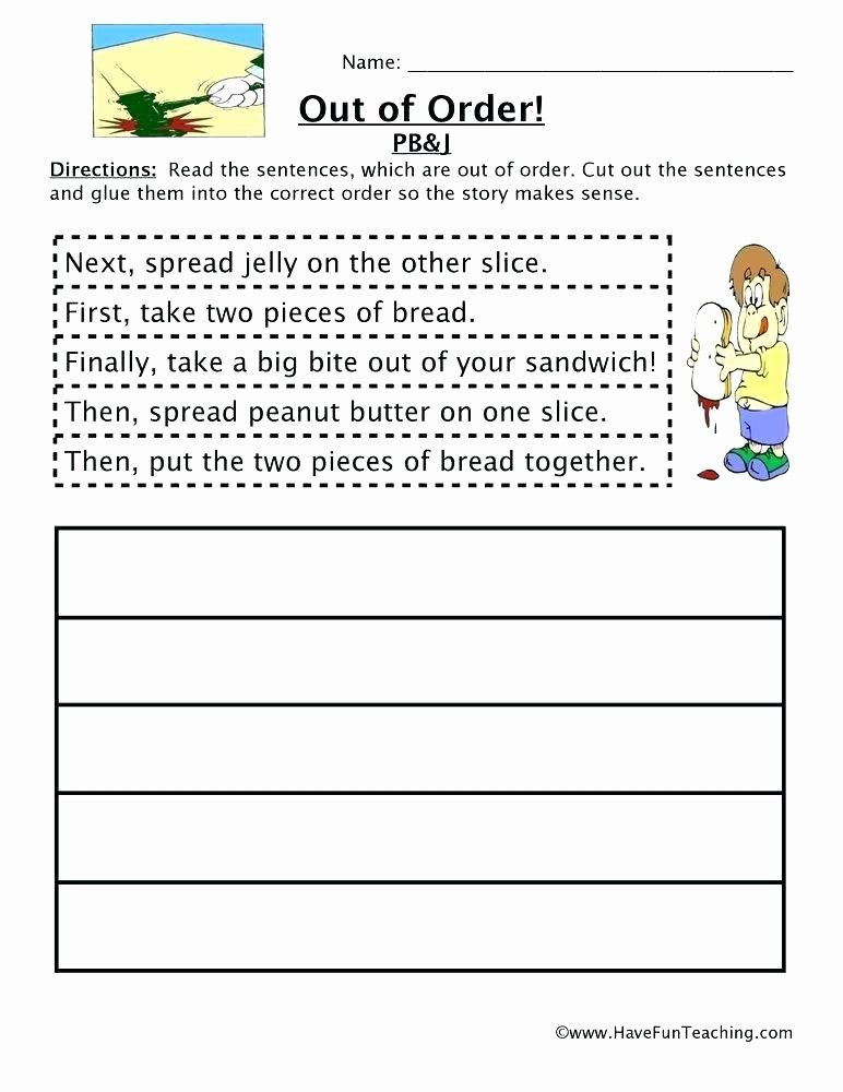 Cut and Paste Sequencing Worksheets Reading Sequencing Worksheets