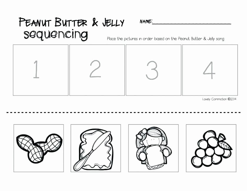 Cut and Paste Sequencing Worksheets Sequence events Worksheets Middle School Sequencing for