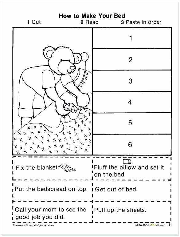 Cut and Paste Sequencing Worksheets Sequencing Worksheets Grade Sequencing Worksheets Grade