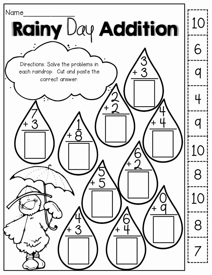 Cut and Paste Worksheet Cut and Paste Math Worksheets for Kindergarten – Math Worksheets