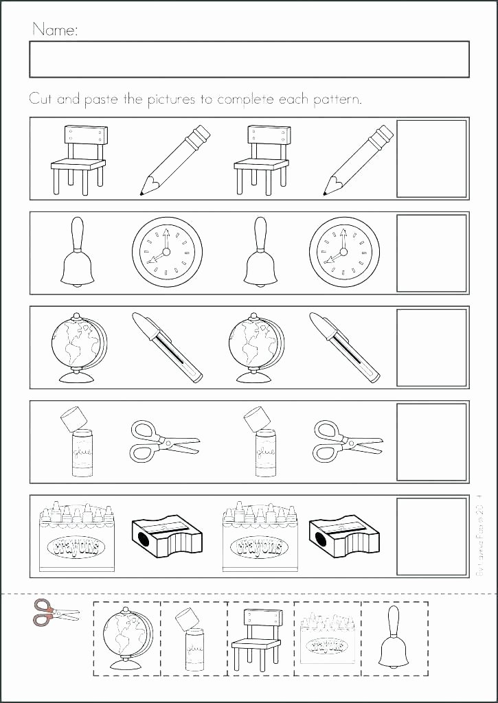 Cut and Paste Worksheet Fall Worksheets Kindergarten Teachers and Students Absolutely
