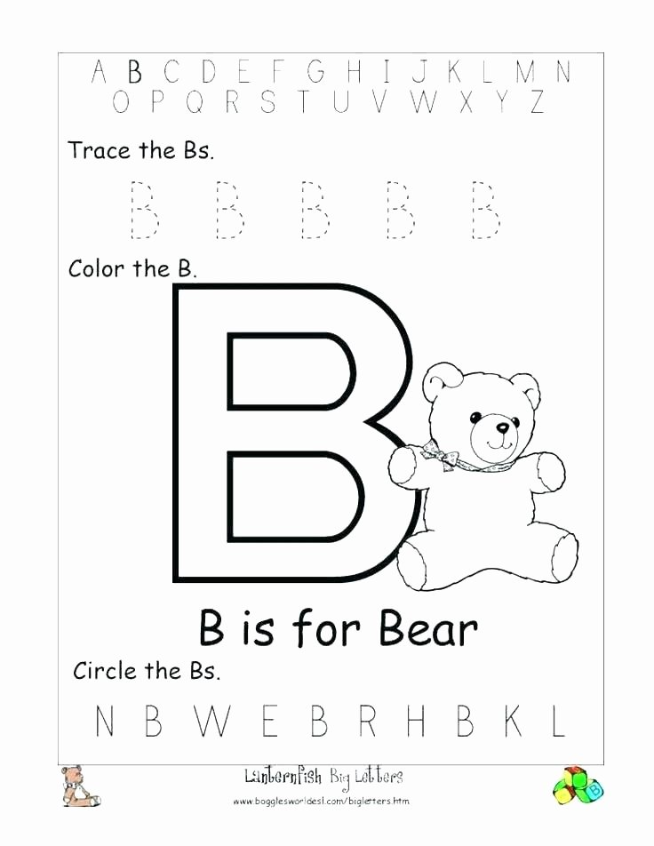 Cut and Paste Worksheet Letter B Cut and Paste Worksheets Alphabet Phonics Free