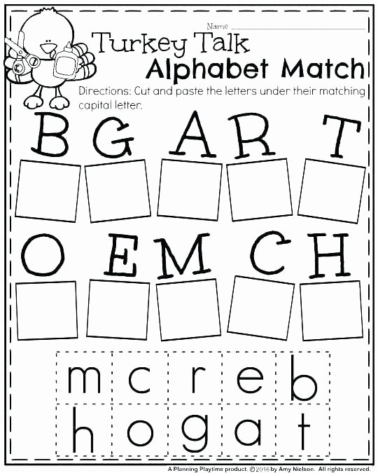 Cut and Paste Worksheet Math Matching Worksheets