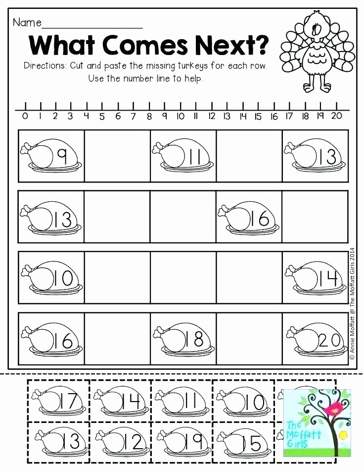 Cut and Paste Worksheet Odd and even Worksheets for Kindergarten Free Math Brain