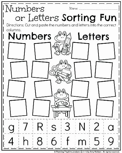 Cut and Paste Worksheets Awesome Free Kindergarten Letter Worksheets Kindergarten Letter A