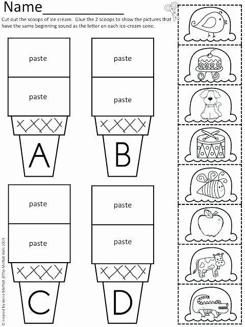 Cut and Paste Worksheets Awesome Kindergarten Cutting Worksheets