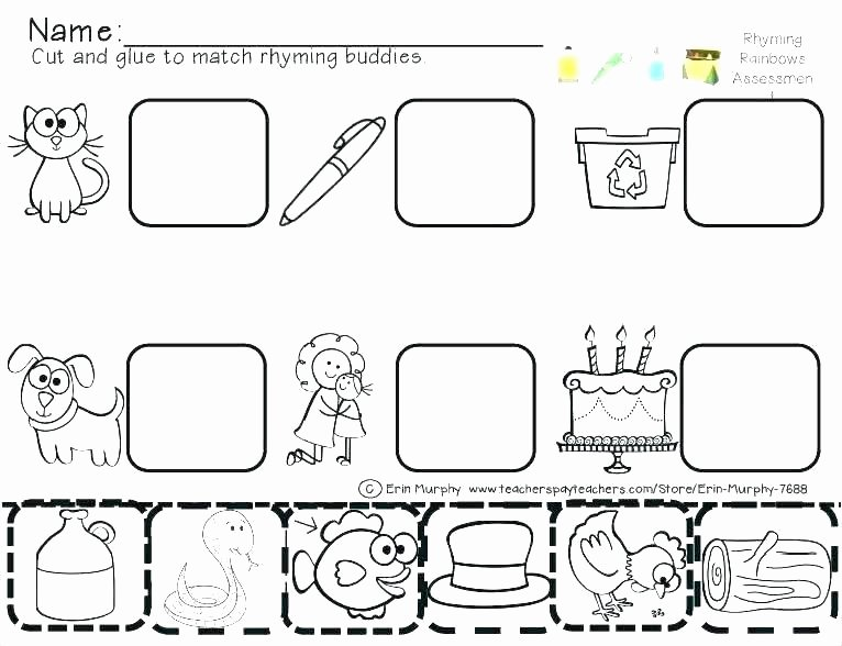 Cut and Paste Worksheets Free Cut and Paste Alphabet Worksheets
