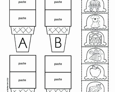 Cut and Paste Worksheets Free Cut and Paste Free Cut Paste Activities for Preschool and