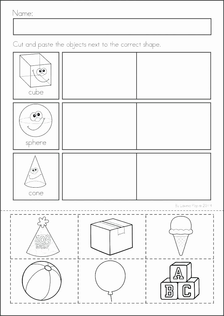 Cut and Paste Worksheets Free Cut and Paste Math Worksheets