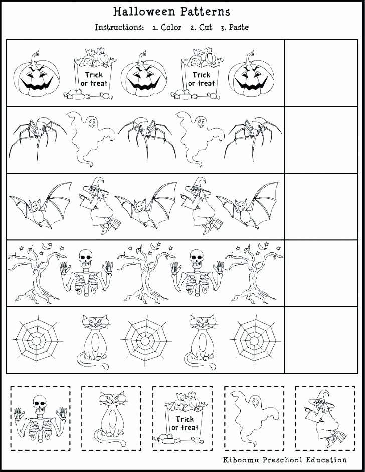 Cut and Paste Worksheets Free Cut and Paste Worksheets for Kindergarten